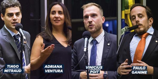 Mitraud, Adriana Ventura, Poit e Ganime são membros na Comissão Especial da Nova Previdência