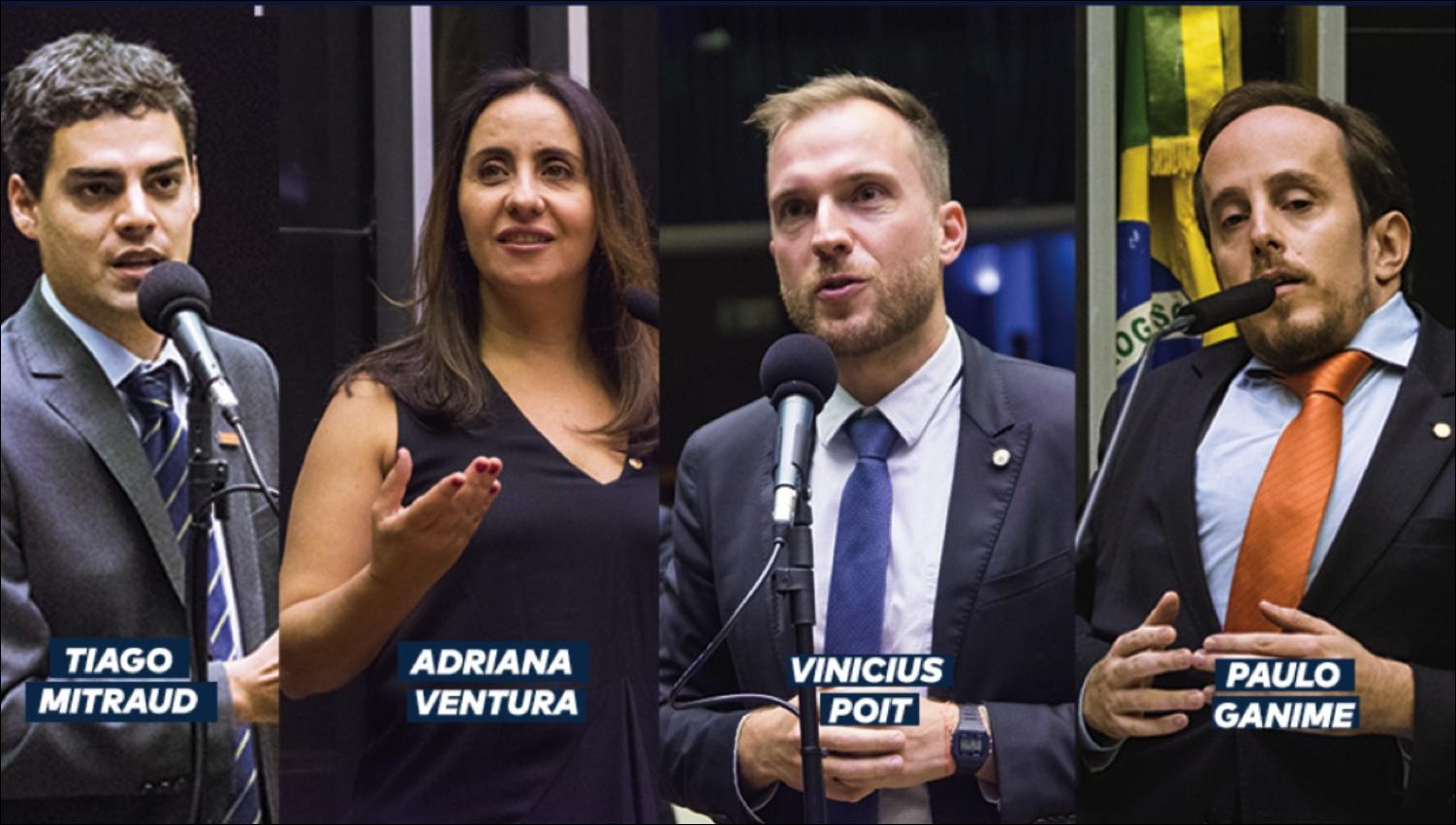 Tiago Mitraud, Adriana Ventura, Vinicius Poit e Paulo Ganime na Comissão Especial da Nova Previdência